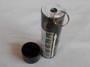 Dýmovnice s třecím zapalovačem 90s - oranžová